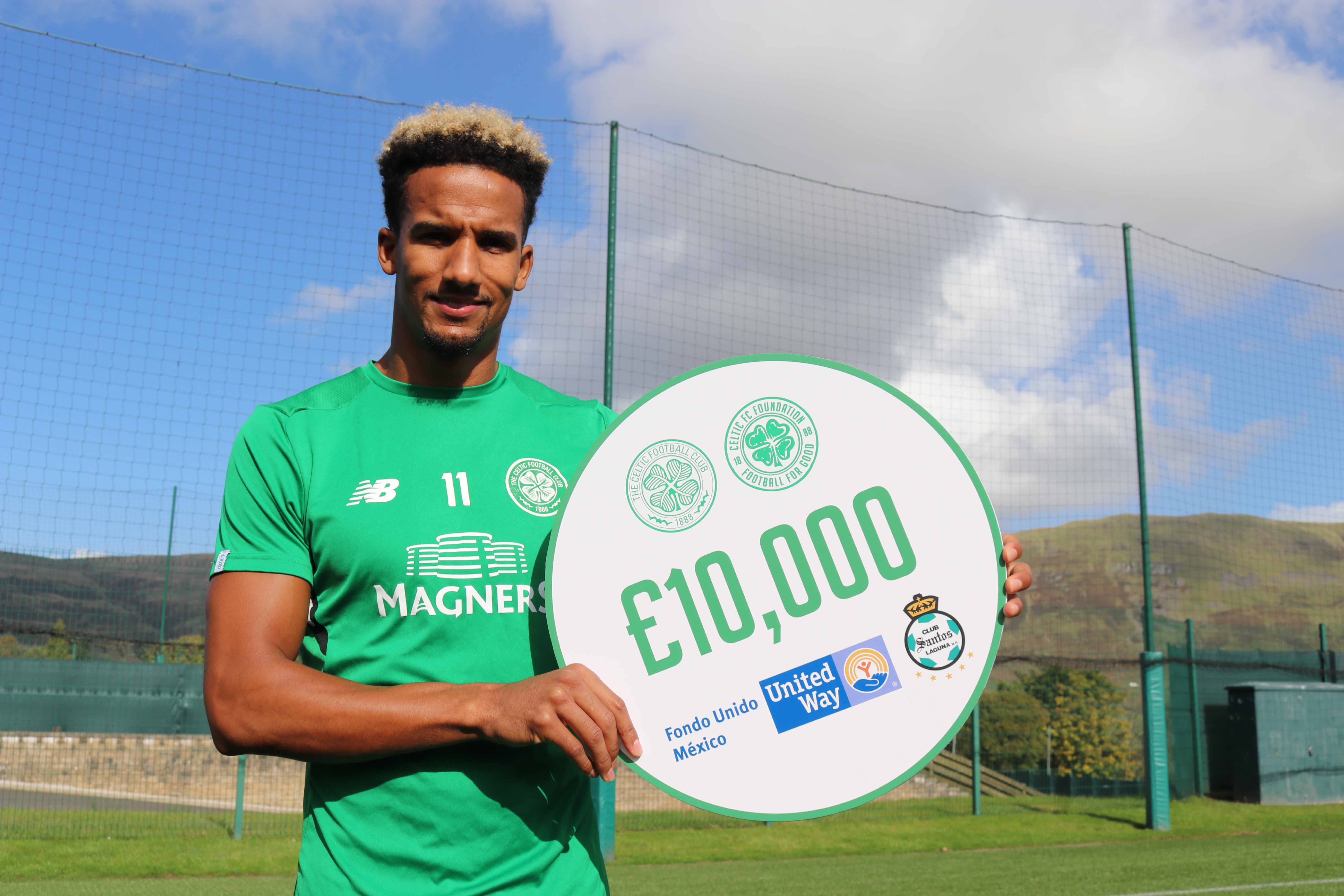 1953dd8ca920d The donation comes through the Green   Blanco Alliance Santos has had in  place with the Scottish Premier League club since 2011. Celtic FC  Foundation ...