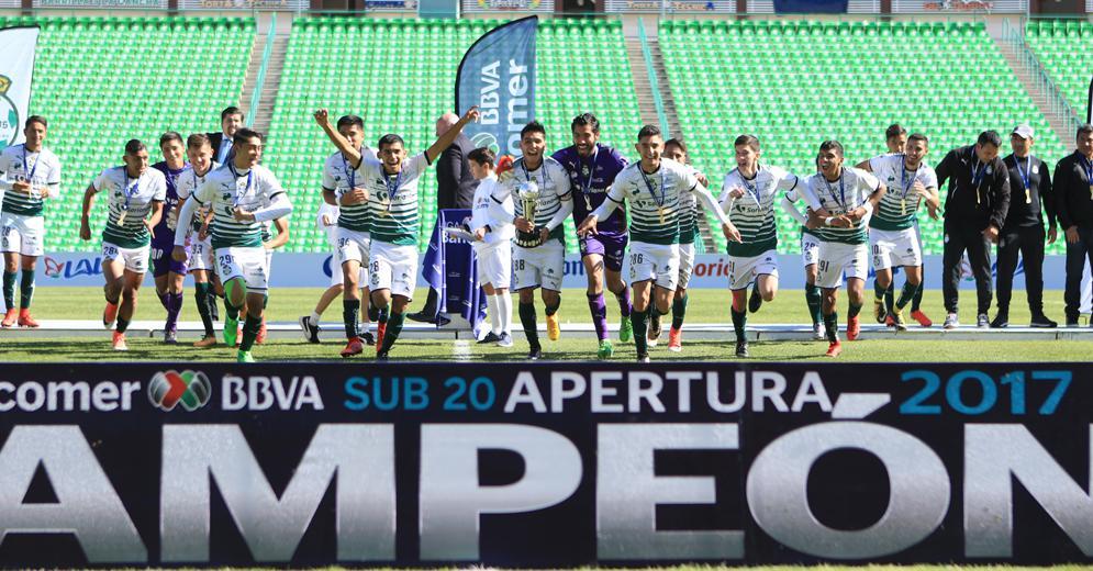 Santos Laguna nuevamente logra la hazaña de los títulos Sub 17 y Sub 20 en un mismo torneo