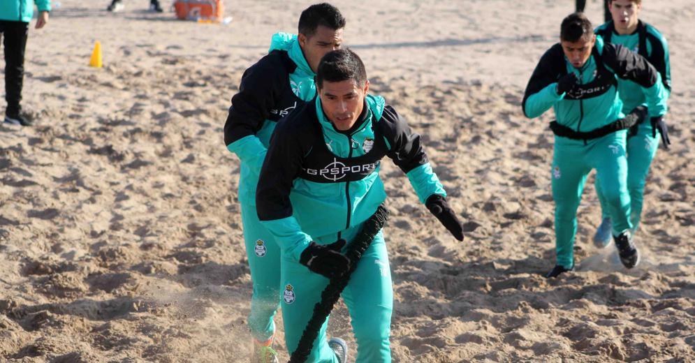 Los Guerreros realizaron una intensa sesión de trabajo en las Dunas de Bilbao